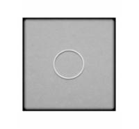 Aro cerrado de plata de ley de 20mm y grosor de 0,9mm