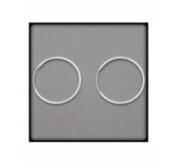 Aro para pendiente de 25mm de plata de ley y grosor de 1,5mm
