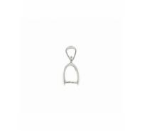 Anilla para colgar de plata de ley rodiada de 18x4mm con anilla superior