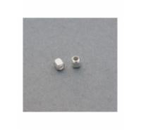 Cubo redondeado de plata de ley de 2,5mm