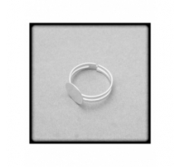 Anillo de plata de ley extensible con base de 11mm