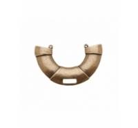 Centro de collar de medio aro plano con anilla en el centro de 70mm