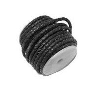 Cordón de cuero redondo trenzado de 4mm