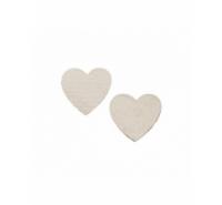 Corazón plano de piel de 30mm