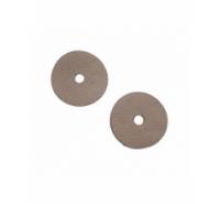 Disco plano de piel de color blanco roto de 43mm