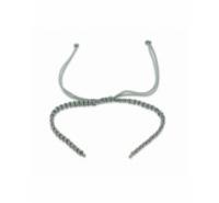 Pulsera de macramé con final de anilla a cada extremo de 15mm