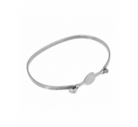 Pulsera con base central de 58mm