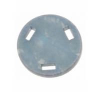 Redonda plana de 34,5mm con 3 agujeros