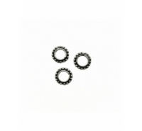 Abalorio arandela con bolitas laterales de 8mm