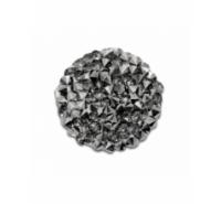 Placa redonda cristal con símiles de 24mm