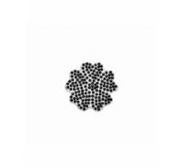 Aplicación flor de strass de cristal de 40mm