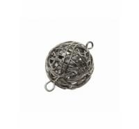 Bola de alambre 20mm plata vieja