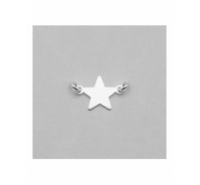 Entrepieza estrella de 13mm con anilla a cada extremo de plata de ley