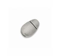 Cierre de imán ovalado liso de zamak de 16mm para piel de 5x2mm pl.vieja