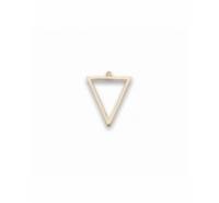 Abalorio colgante silueta triangular 20x16mm de plata de ley chapada