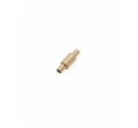 Cierre de imán cilíndrico con agujero de 2,5mm de color dorado mate