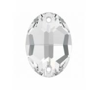 Piedra coser ovalada 24x17mm crystal Swarovski