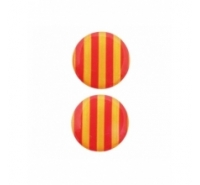 Cabuchónredondo con señera catalana de 19mm