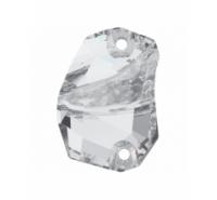 Piedra plana de 27x19mm de colo cristal silver shade