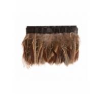 Fleco de pluma natural tonos marrones de 5cm