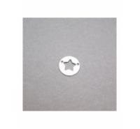 Entre pieza placa con estrella calada con 2 agujeros de plata de ley de 12,5mm