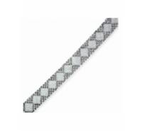 Tira de strass y granito termo adeshiva de 15mm de color gris y plata