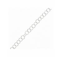 Cadena de plata de ley de anillas redondas de 3,3x0,5mm