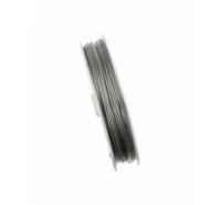 Cable de acero con revestimiento de nylon de 1mm de color gris plata