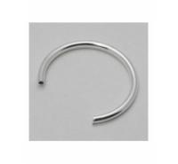 Base de anillo de 20mm de tubo de 1.5mm hueco para montar de plata de ley 925