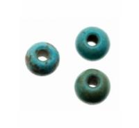 Bola de 4mm m howlite sintética teñida de color turquesa con betas