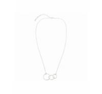 Gargantilla de cadena con tres aros centrales largo de 40cm + 5cm alargo.