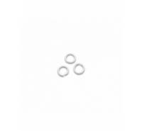 Anilla de plata de ley redonda de 5mm