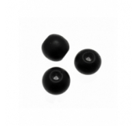 Tira de onix negro mate de 4mm 38cm