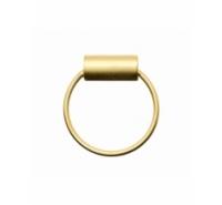 Colgante aro de 20mm con cilindro de 11mm y paso 3,5mm de color dorado mate