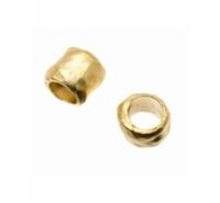 Cilindro barroco de 10mm con paso de 7mm de color dorado mate