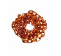 Cadena de anillas ovaladas de 16x10mm de plástico imitación concha