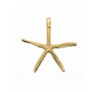 Abalorio colgante estrella de mar de zamak de 75mm