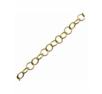 Cadena anillas redondas de 5mm de color dorado mate lacada