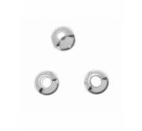 Bola lisa de plata de ley de 6mm