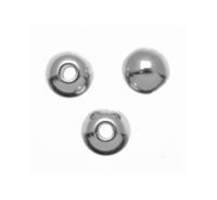 Bola lisa de plata de ley de 8mm