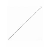 Cadena de eslabones ovalados y planos de 2x1,5mm en plata de ley