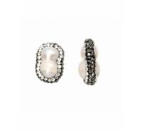 Doble perla para pasar de 20mm con símiles de cristal y hematite
