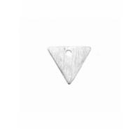 Triángulo de 14mm para colgar con anilla troquelada en plata de ley texturizada