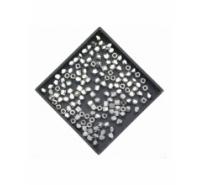 Cubo de latón facetado de 2,5mm
