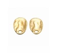 Pendientes ovales barrocos de 24mm de zamak. Incuye presión