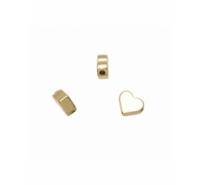Abalorio corazón redondo de 5,5mm