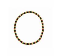 Tira elástica de discos de madera de 8mm multicolor