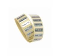 Etiquetas para joyería PLATA 1ª LEY de color plateado y letras negras